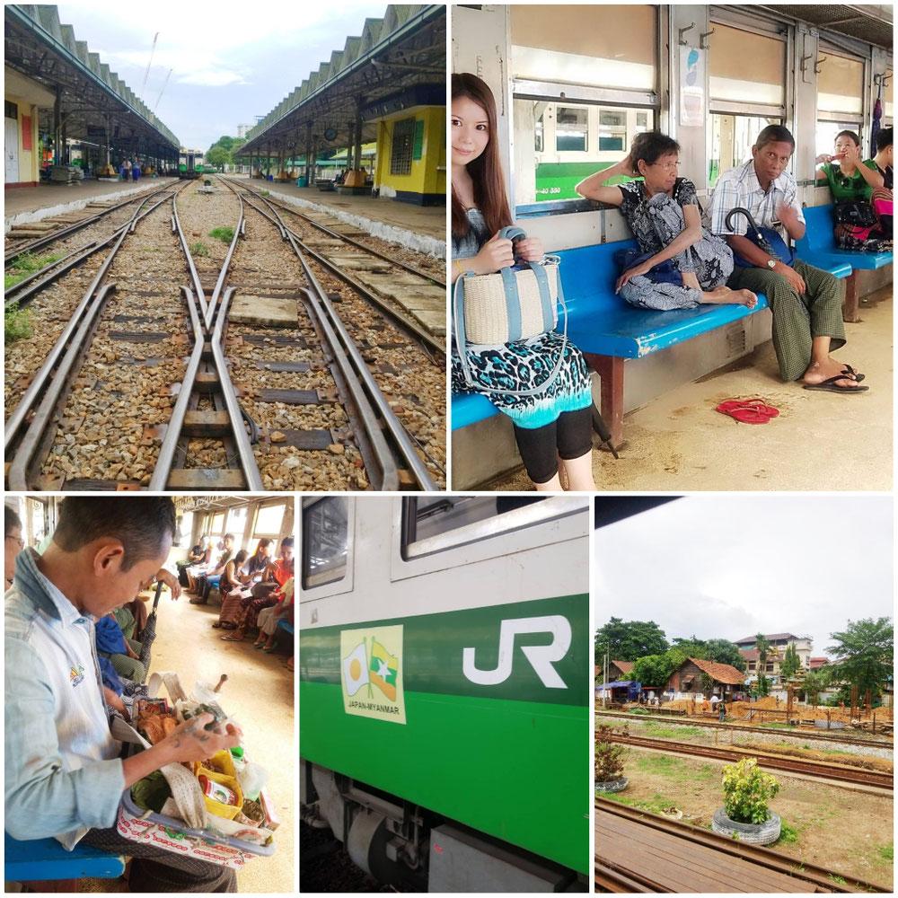 ヤンゴンの鉄道