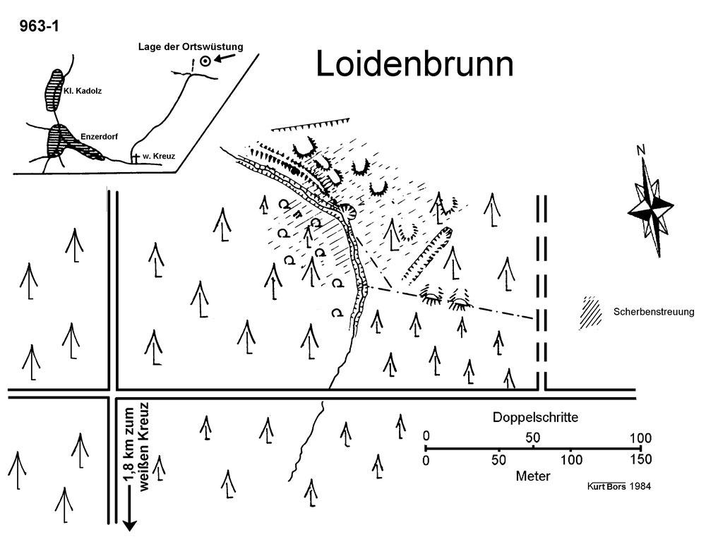 Skizze von Wüstungsforscher Bors