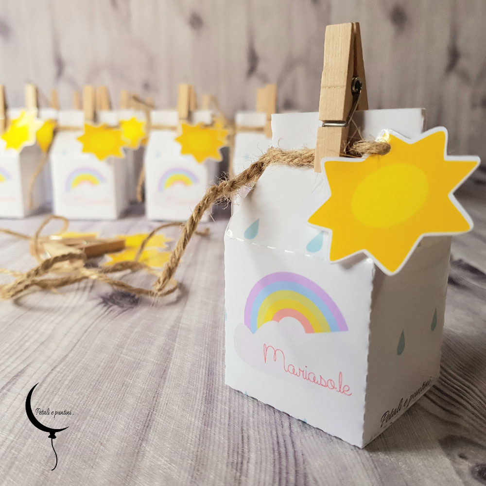Mini Milk Box nascita Arcobaleno