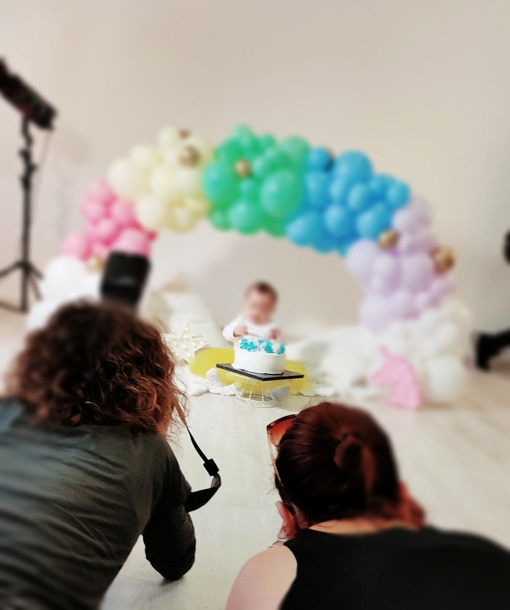 Servizio fotografico torta Primo Compleanno