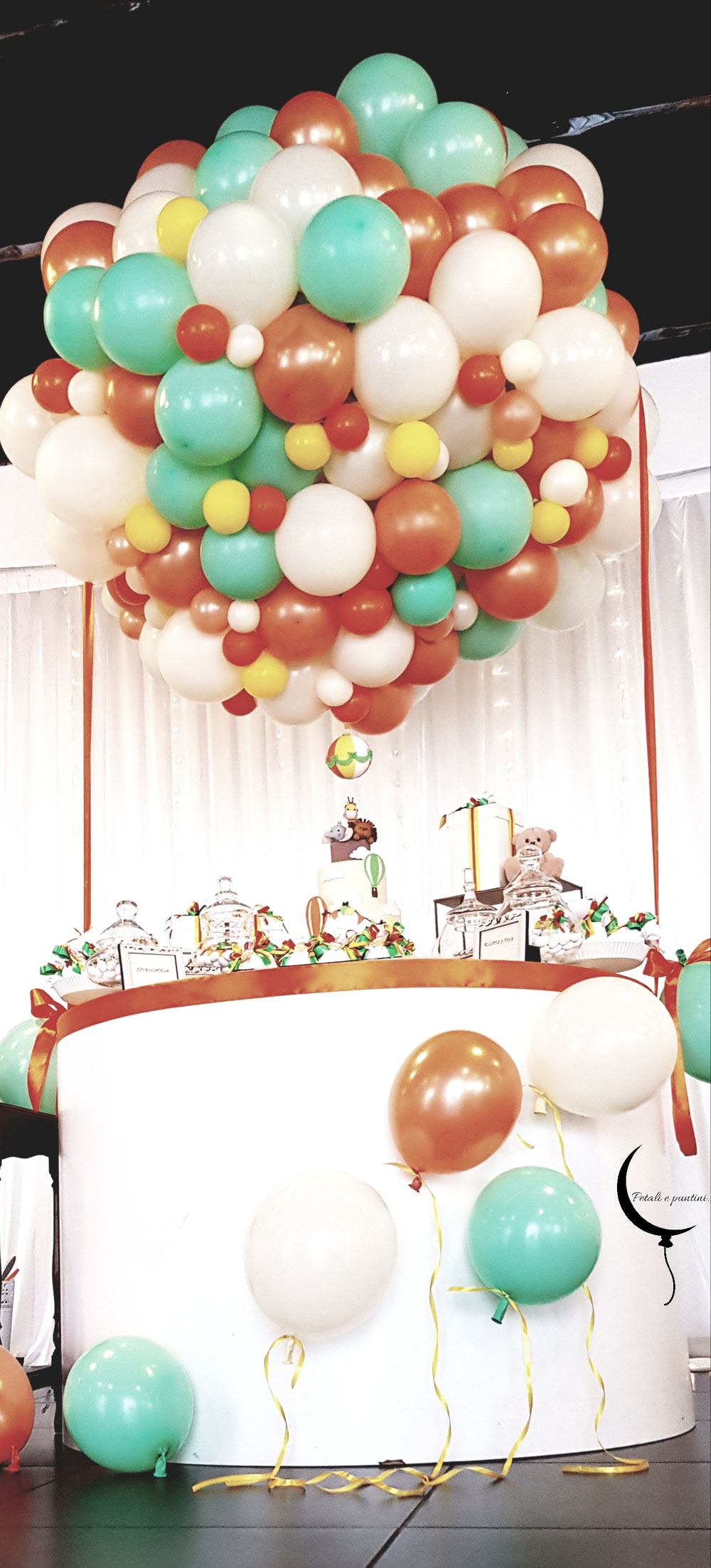Mongolfiera con palloncini