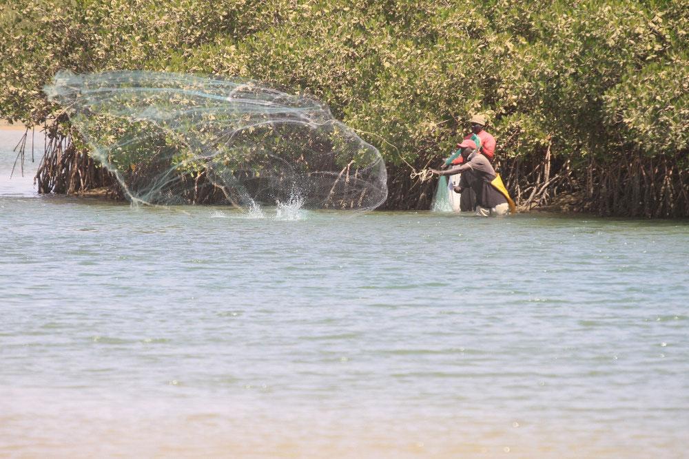 Fischer in der Lagune