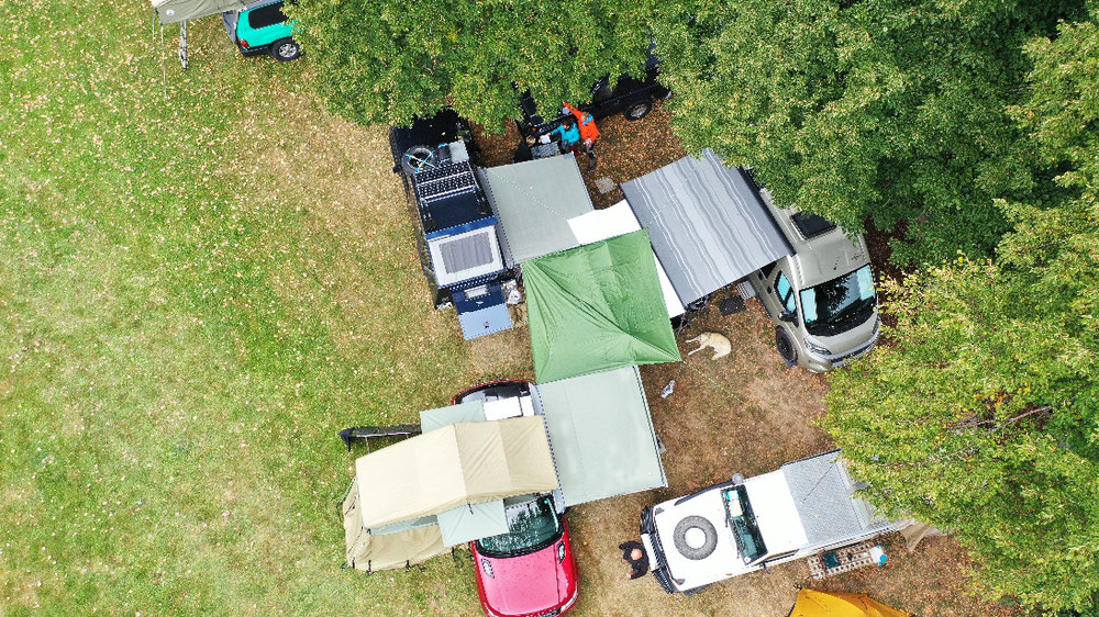 Unser Camp von oben