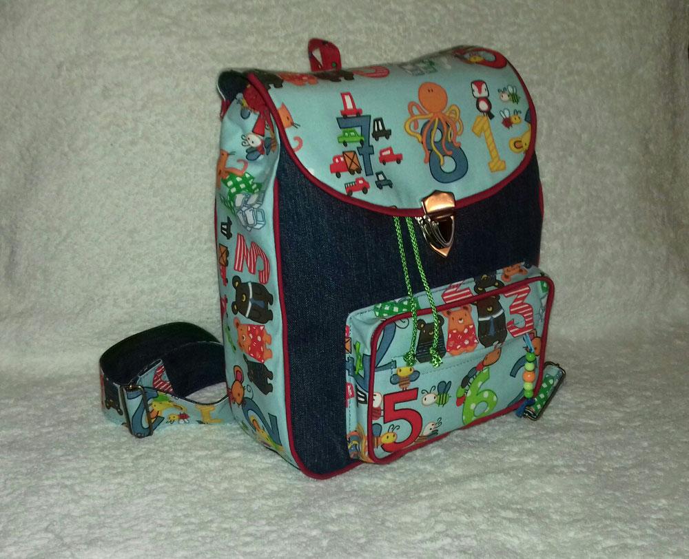 Kindergartenrucksack, Baumwollstoff/Jeans