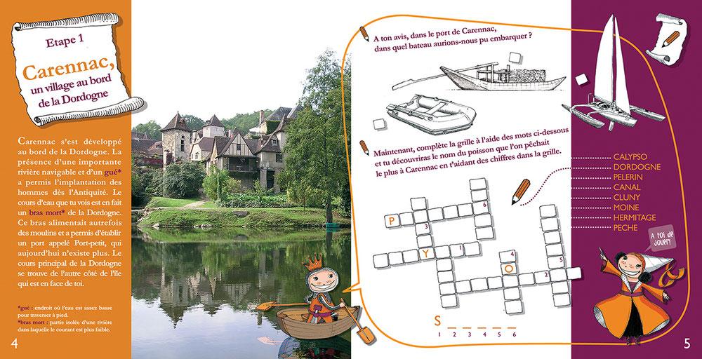 """Première étape du jeu """"un village au bord de la Dordogne"""