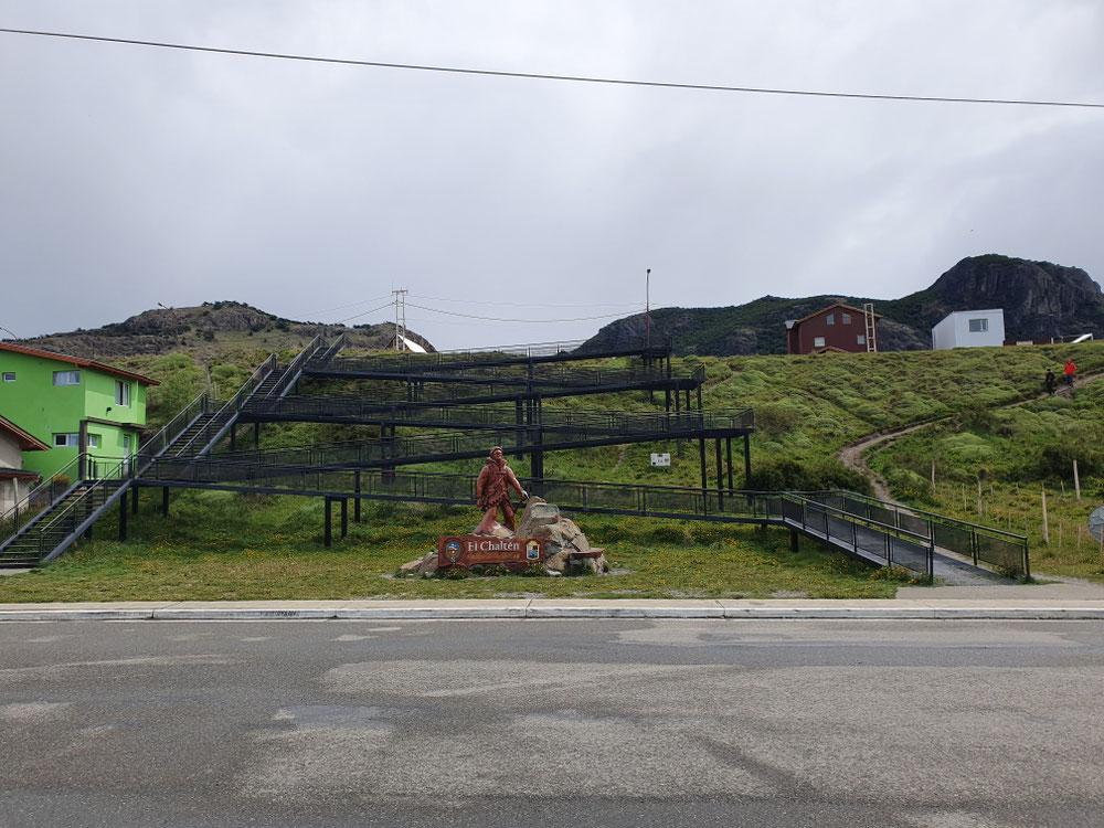 Denkmal für den Bergsteiger in Chalten