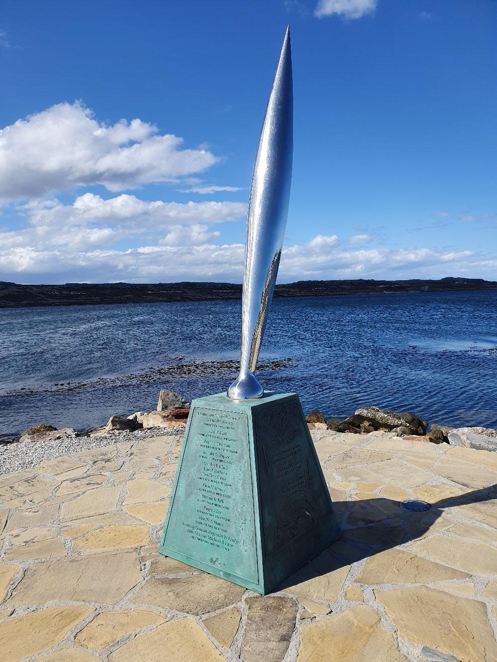 Das Antarktis-Denkmal in Port Stanley ist allen in der Antarktis gestorbenen Wissenschaftlern gewidmet