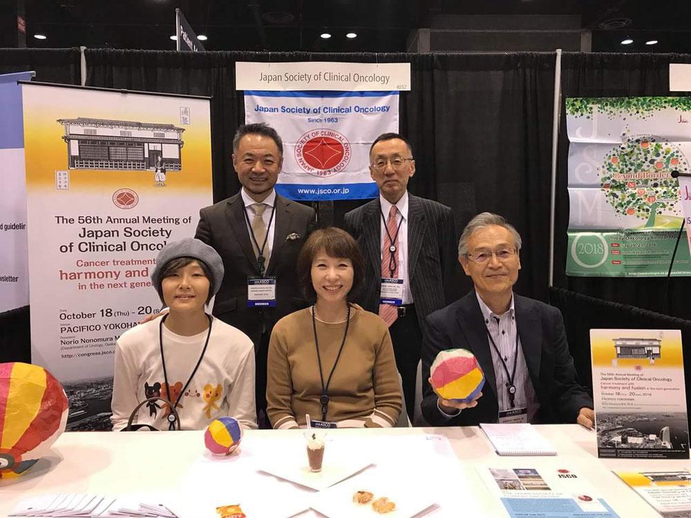 日本癌治療学会から派遣されたドクターと患者団体の方と。