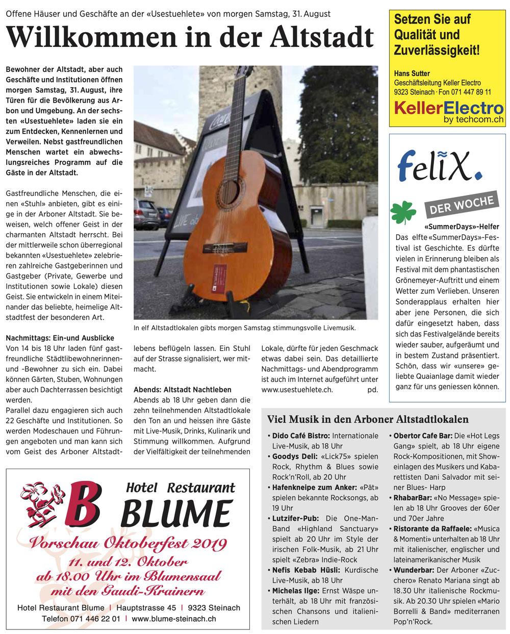 Wochenzeitung Felix, 30.08.2019
