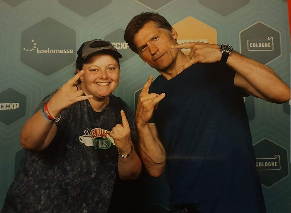 A photo op with Nikolaj Coster Waldau at CCXP Cologne