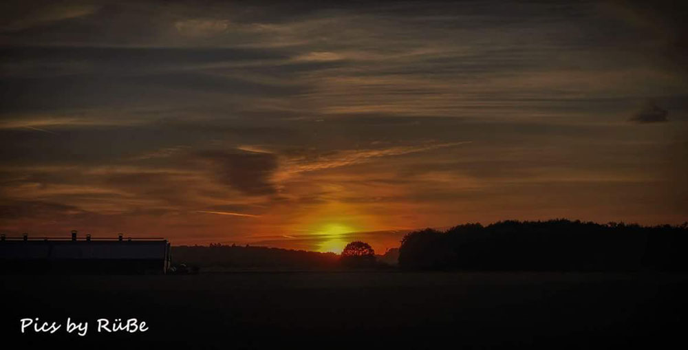 Sonnenuntergang auf der Boeckelt