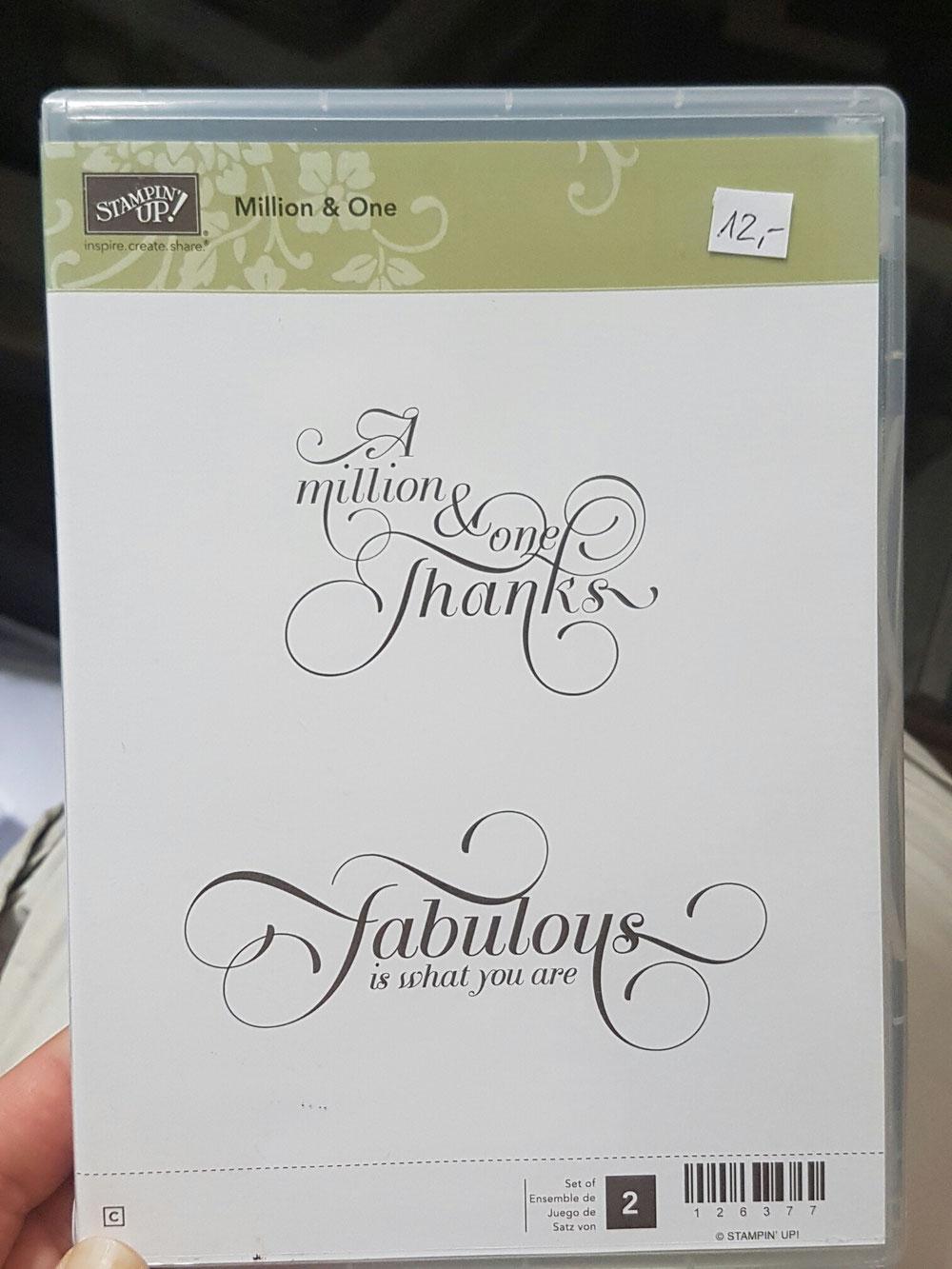 Stempelset Million & One (einmal benutzt), Preis: 12 Euro