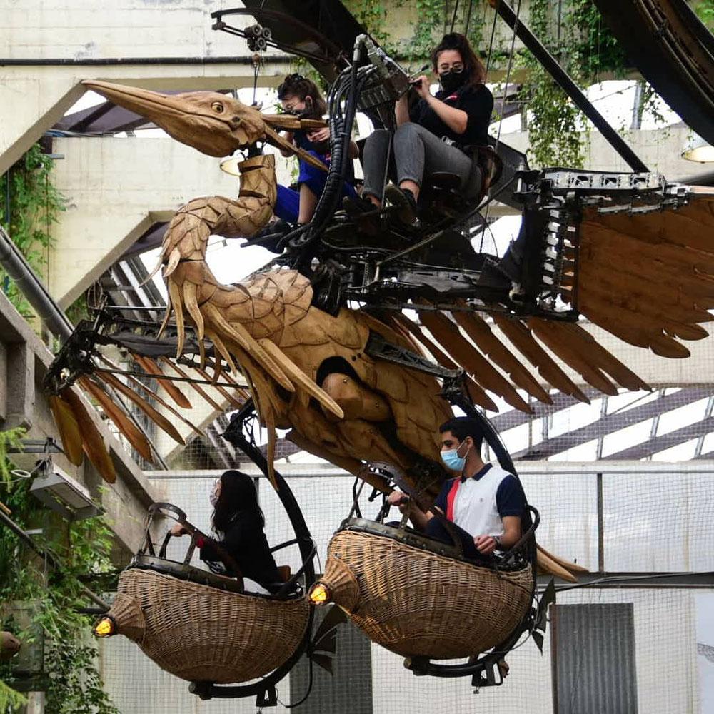 Sensationell die Figuren aus Stahl und Holz die voller Mechanik und viel Fantasie stecken