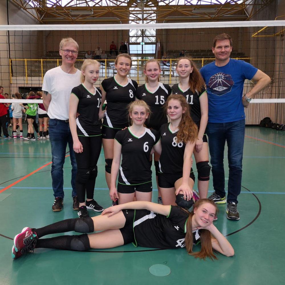 U16w mit Co Trainern-Vätern/ Vielen Dank!