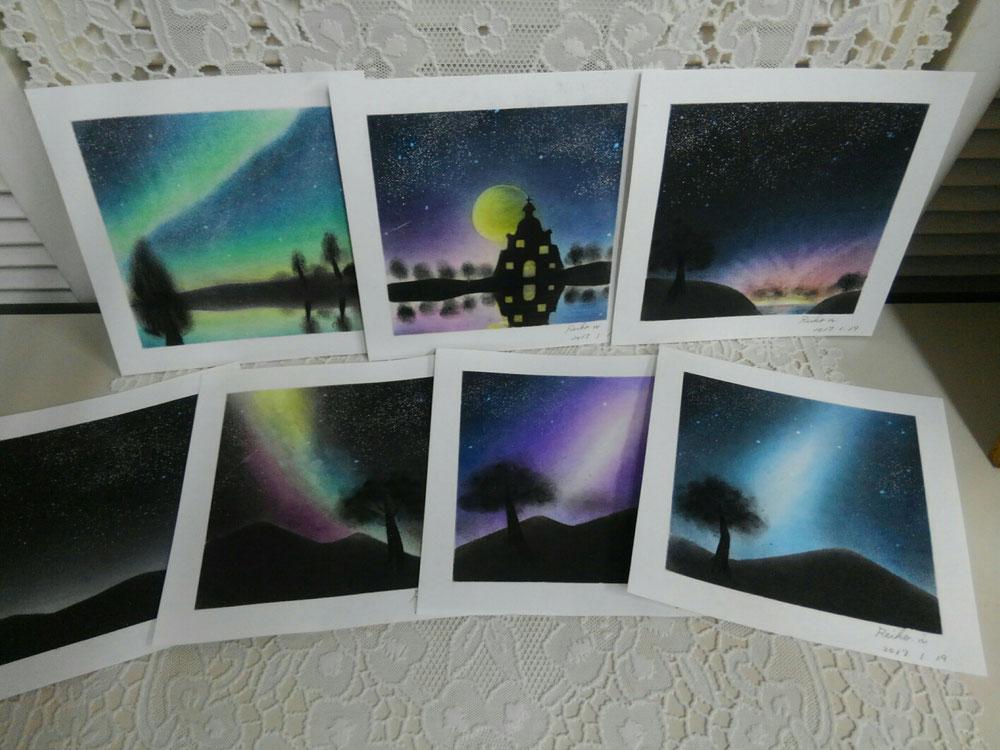 一緒に描いた7枚です(*^^*)