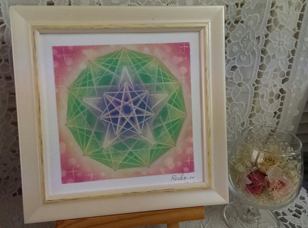 中心から7、5、11角形の星です