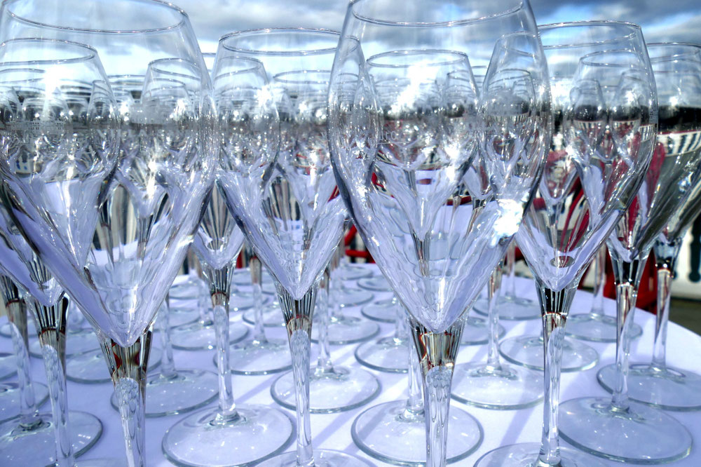 Die Gläser sind bereit