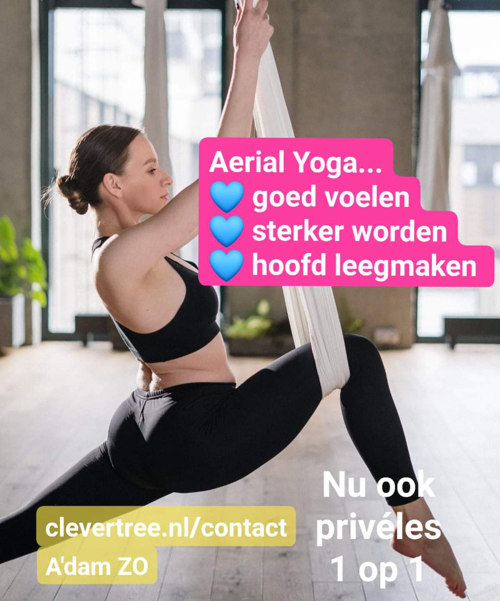 Privé les aerial yoga. Foto door cottonbro via pexels