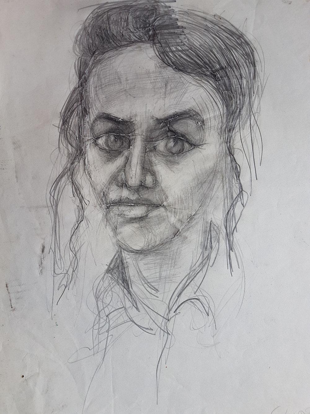 Tänzerin, Bleistift auf Papier, 1994