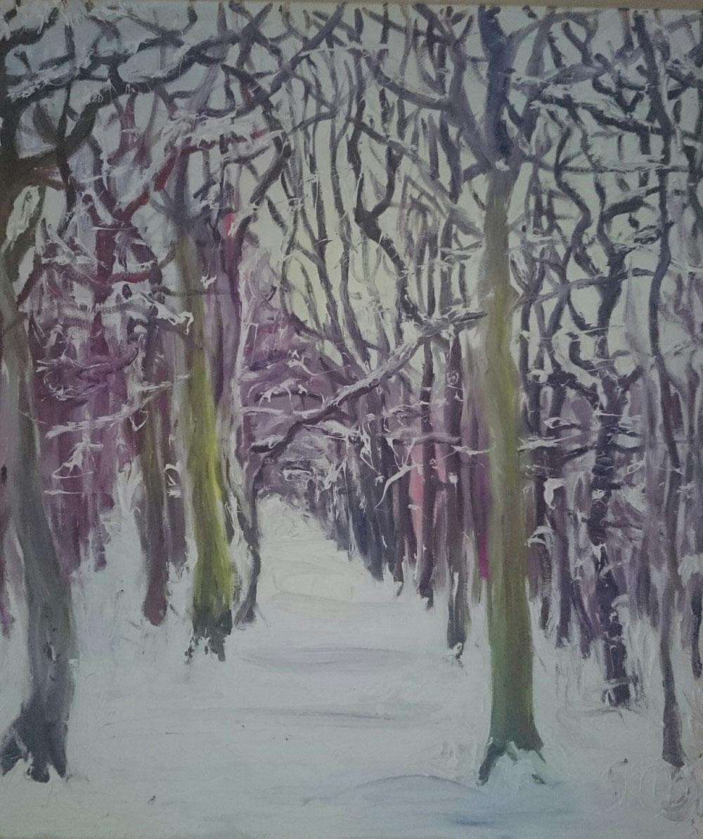 Winterlandschaft, Öl auf Leinwand, 2005