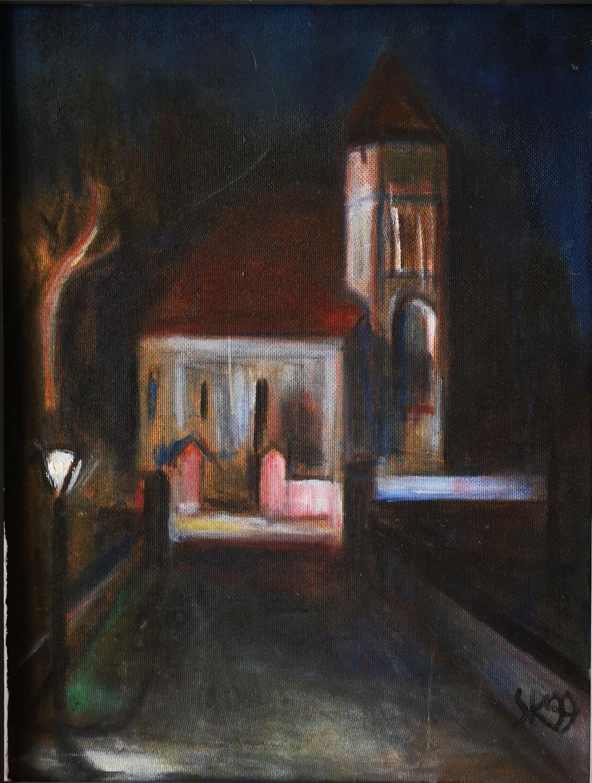 Kirche in der Nacht 1997