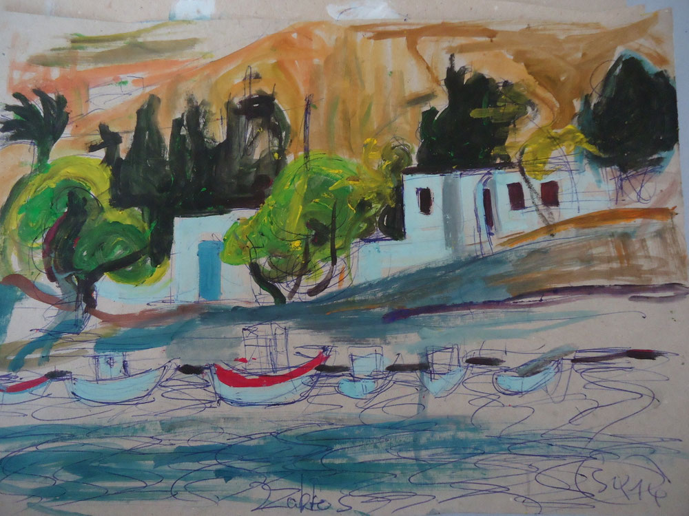 Kreta, Tempera auf Papier, 2014