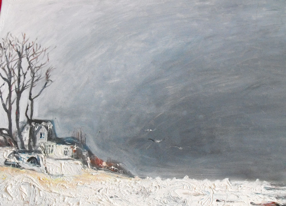 Winter in Ahrenshoop, Öl auf Leinwand, 2012