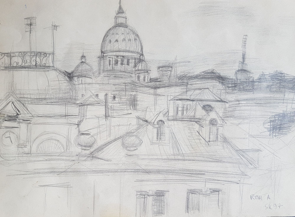 Roma, Bleistift auf Papier, 1997