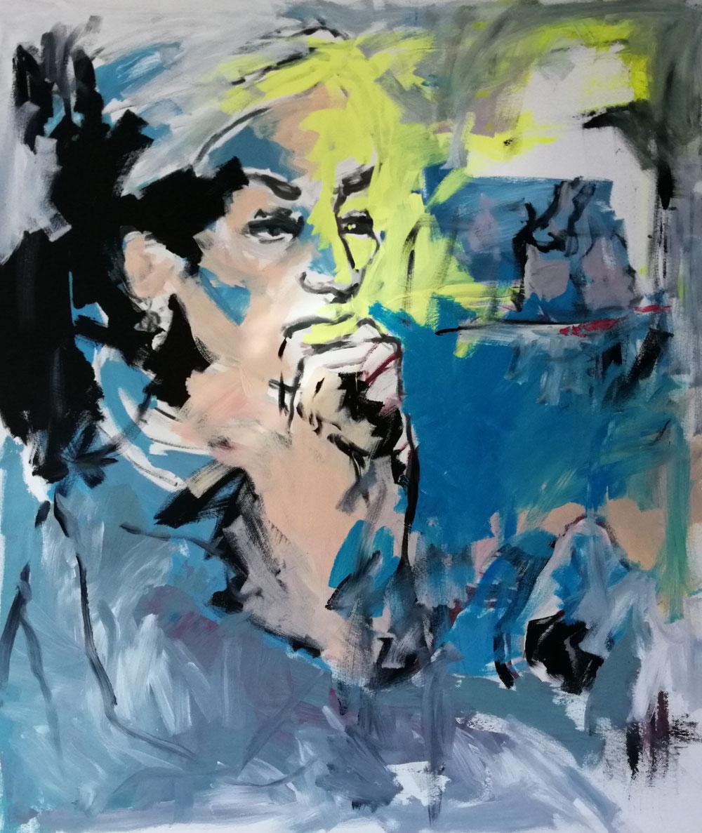 Ohne Titel (2020), Acryl auf Leinwand, 120x140cm