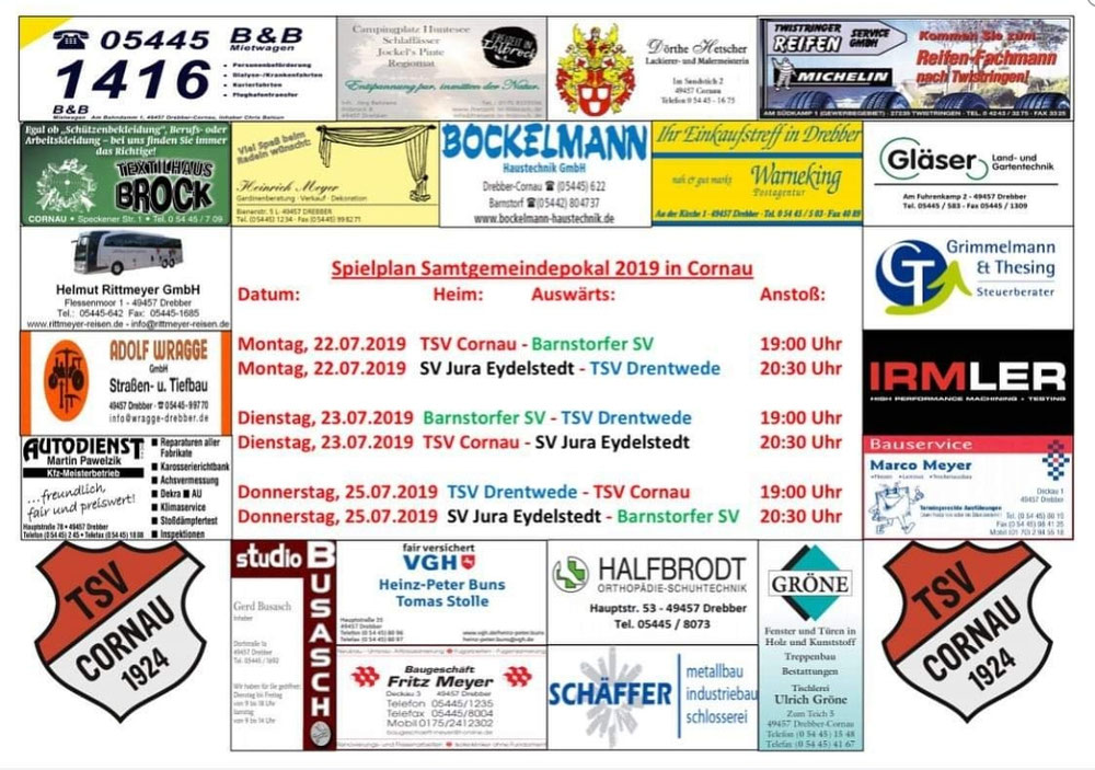 Samtgemeinepokal im Rahmen der Cornauer Sporttage