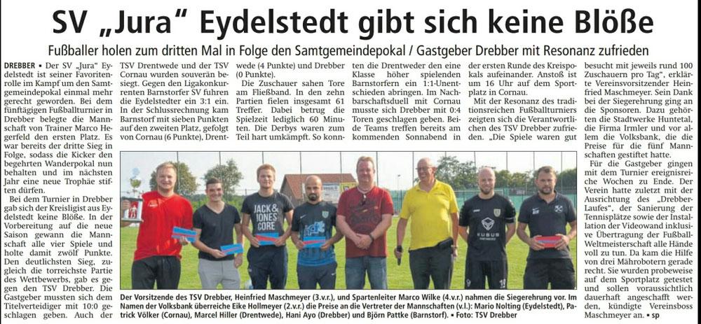 3. PLATZ beim Samtgemeindepokal-Turnier