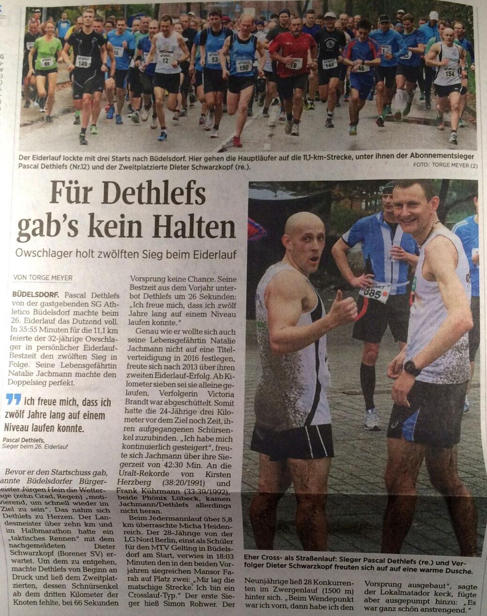 Eiderlauf Büdelsdorf Kieler Nachrichten