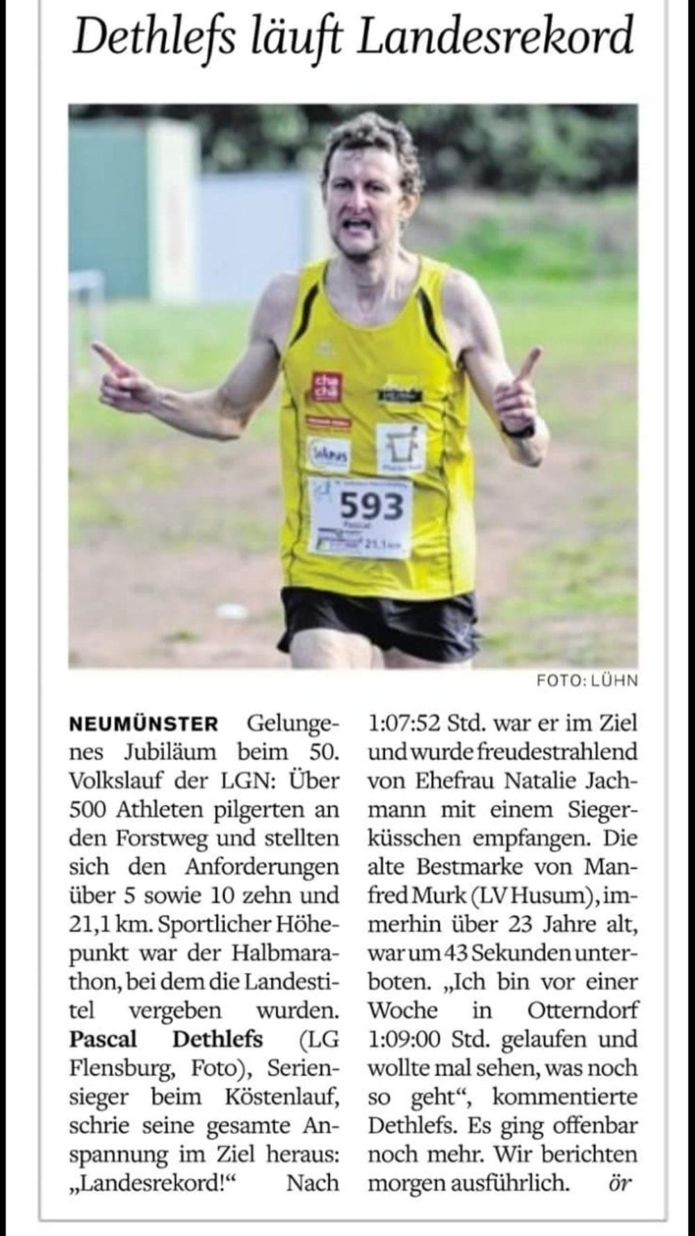 LM Halbmarathon  aus Neumünster