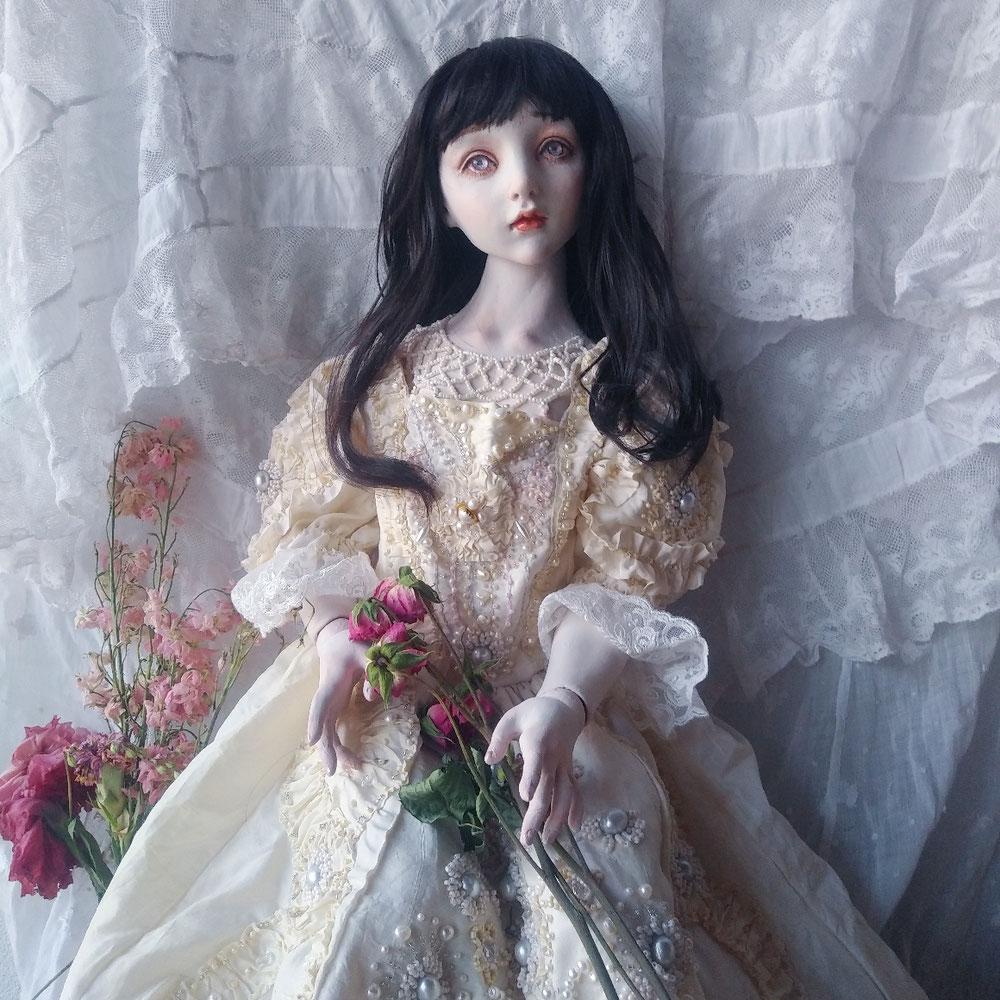 銀座人形館個展にて展示の作品より。