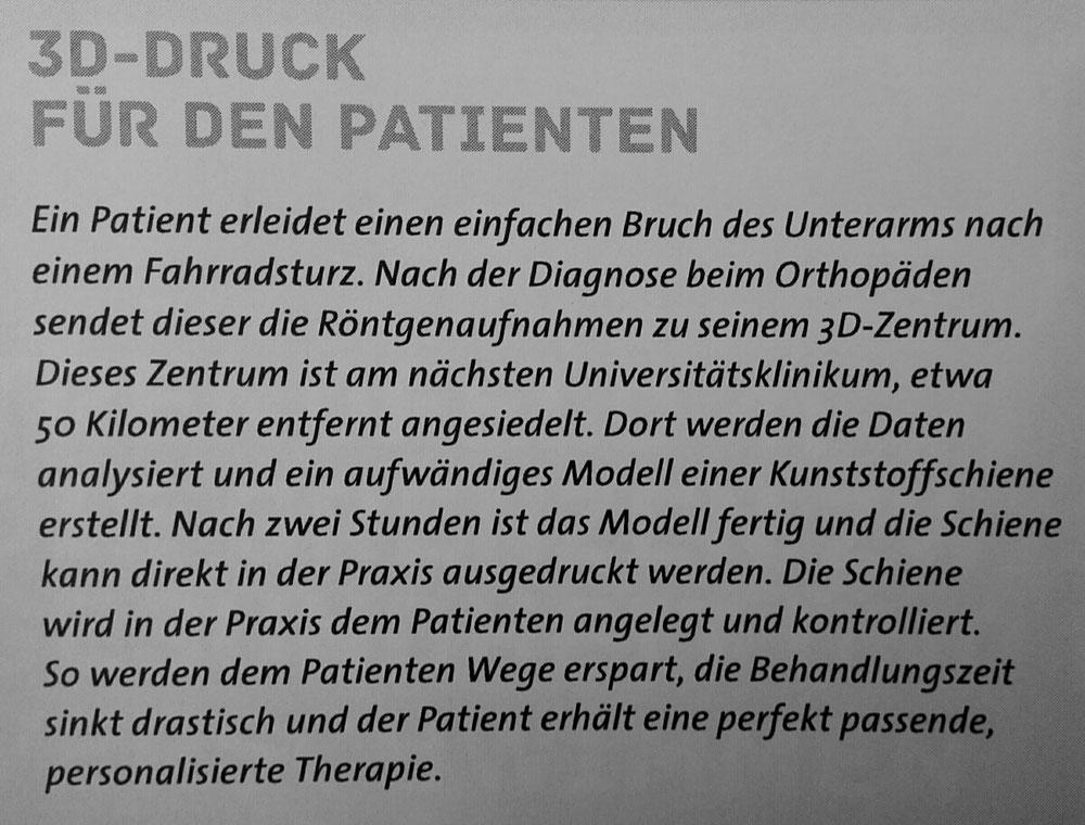 Personalisierte Therapie durch 3D-Druck (Quelle: Studie Medizin der Zukunft, Zukunftsinstitut b2 ahead, Leipzig)