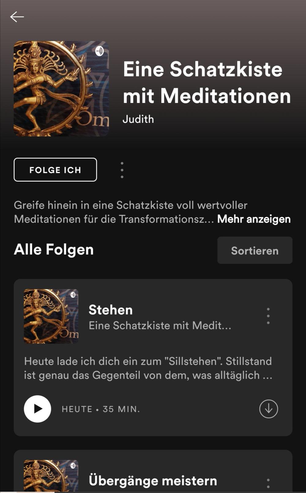 Mein neuer Podcast für die tägliche kleine Portion Meditation