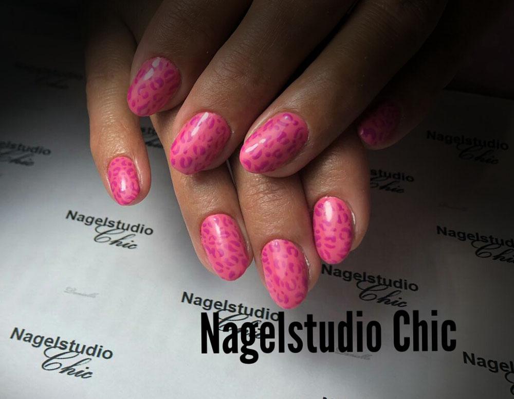 Pinkpanter!! Mooie roze panterprint nagels