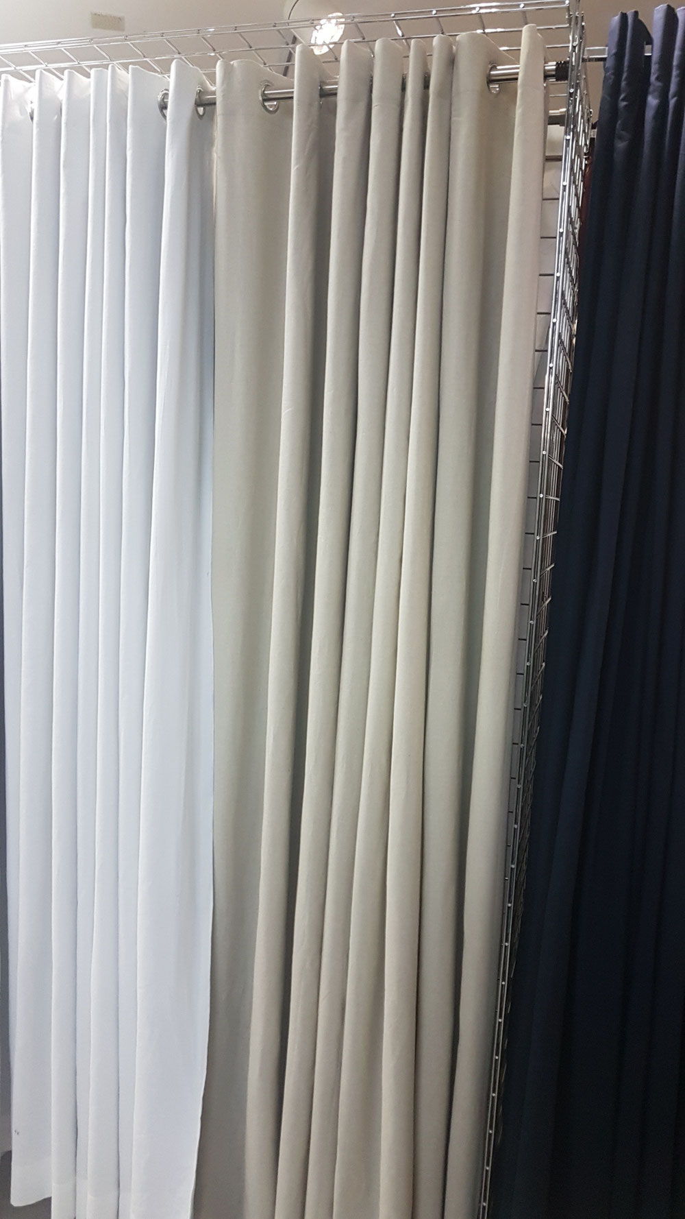 Natural color grommet lined drapery panels thermal 96 and 108 in Long