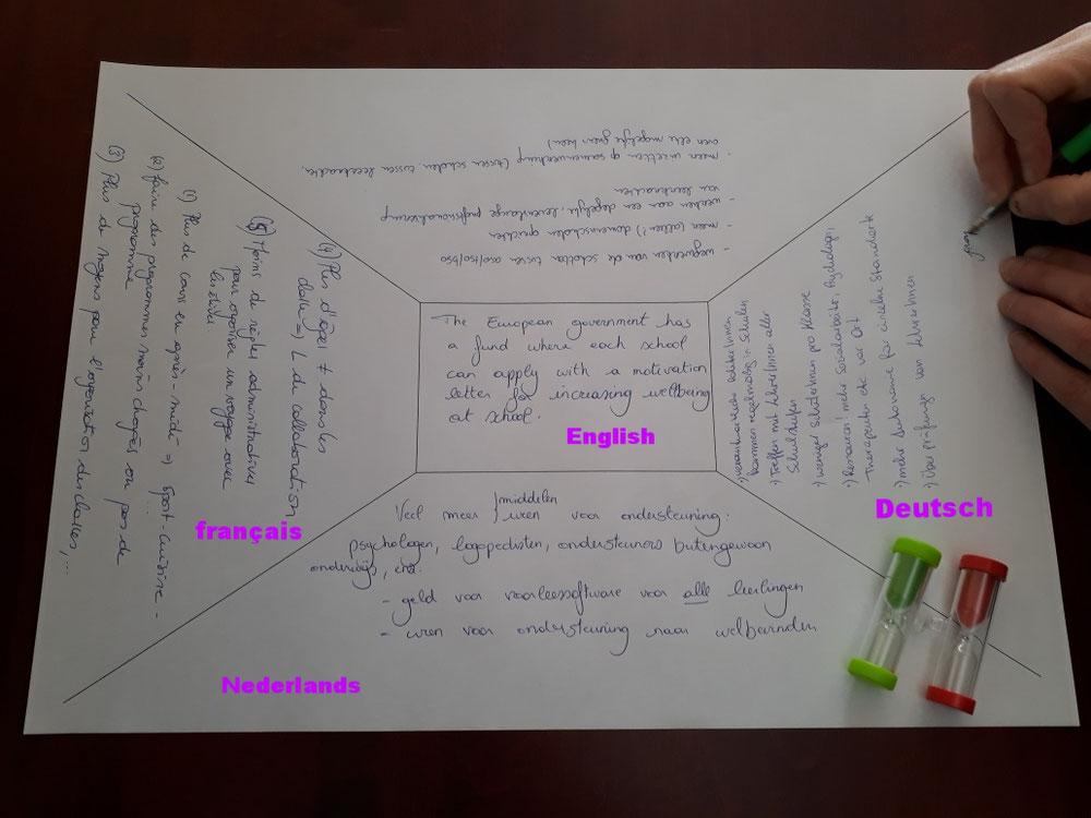 Meertalige placemat