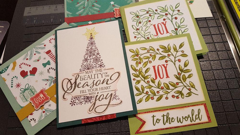 クリスマスカード作り 体験出来ます by Stampin'Up!