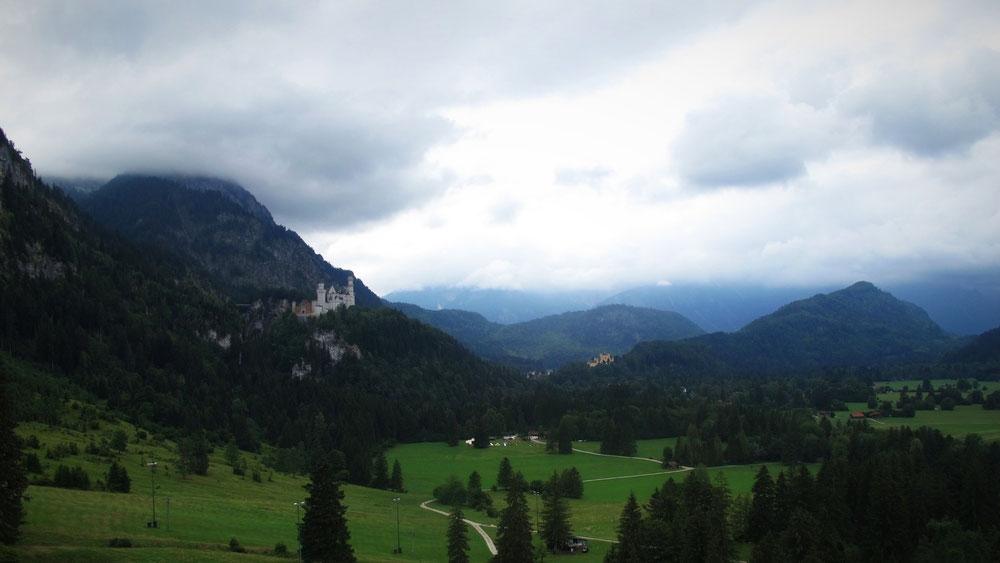 montagne tegelberg bavière allemagne téléphérique châteaux