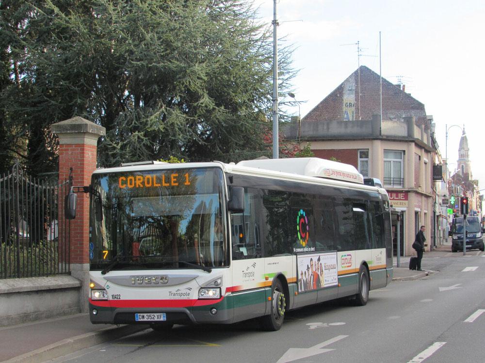 Un bus de la ligne Corolle 1 à La Madeleine Gare