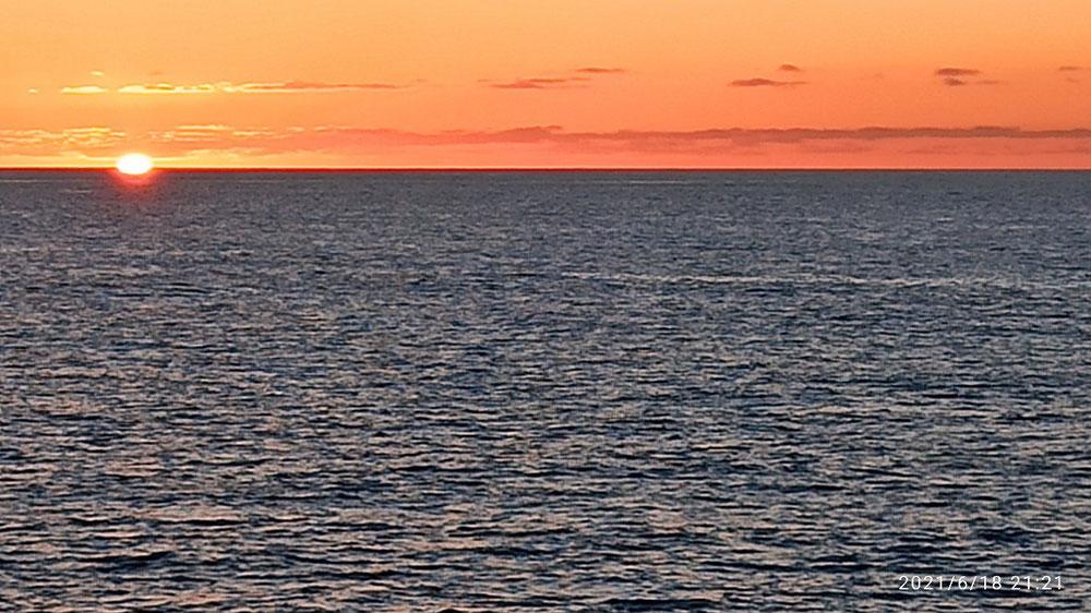 Gestriger Sonnenuntergang vom Schiff aus