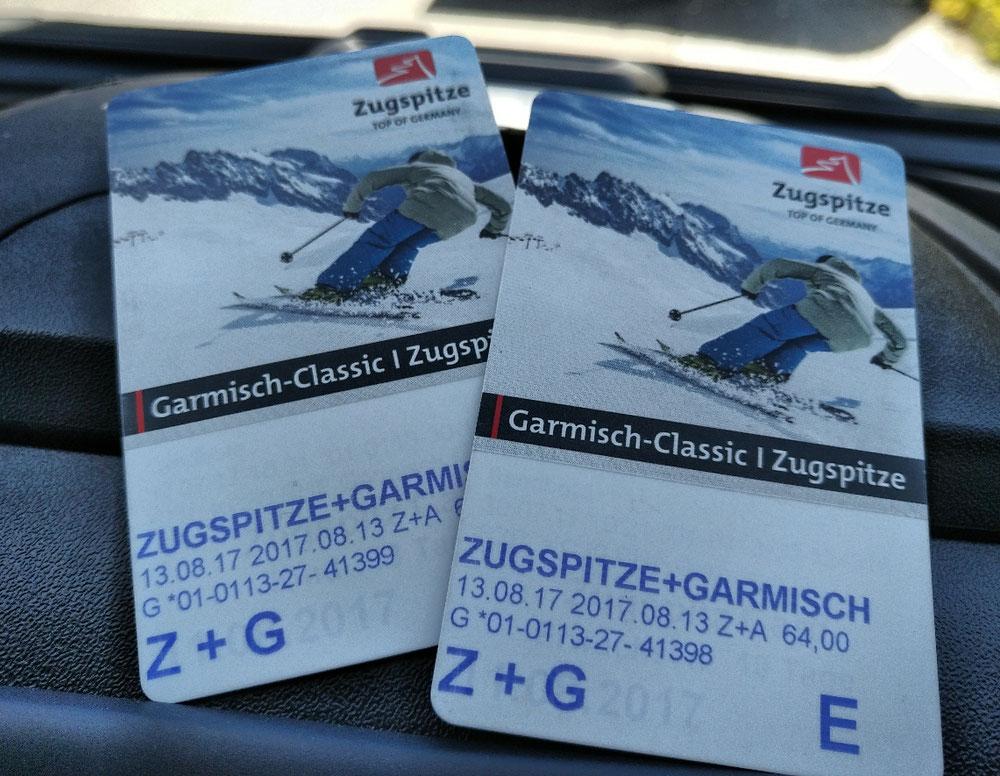 Kreuzeck-Gondel, Zugspitze-Zahnradbahn und Gipfelgondel... für € 128.-