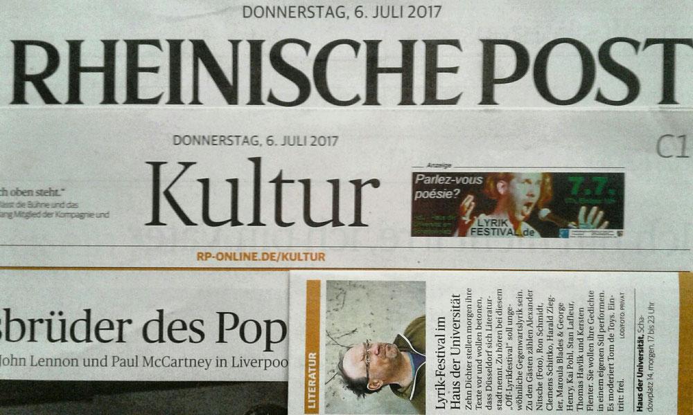 Anzeige+Ausgehtipp in RP KULTUR 6.7.2017