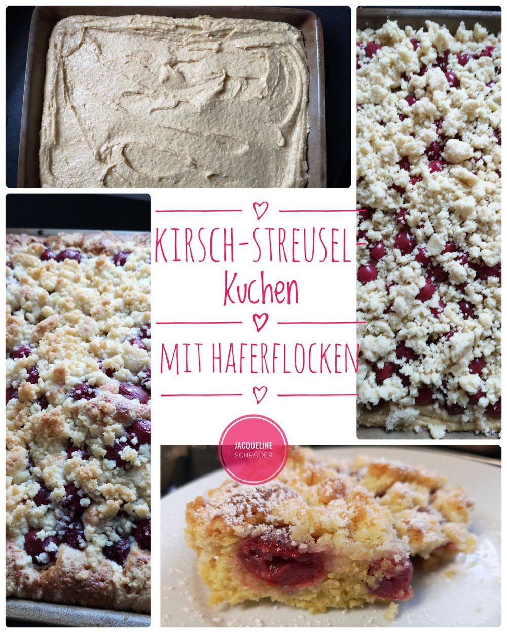 Kirsch-Streusel-Kuchen mit Haferflocken