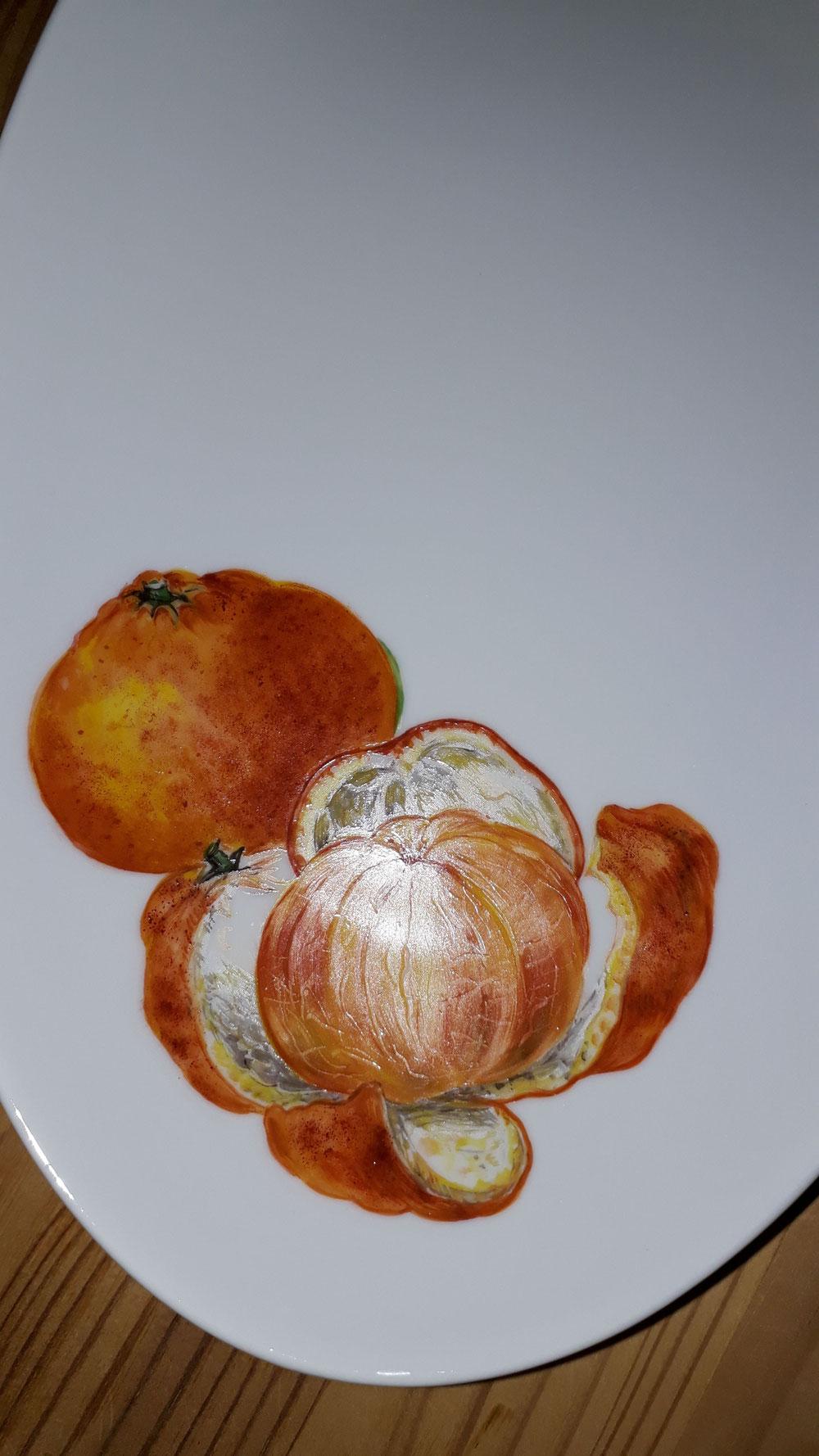 Gebäckteller mit Mandarinen