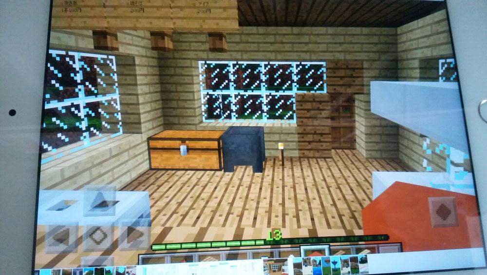 屋台の椅子からみた屋台の内装