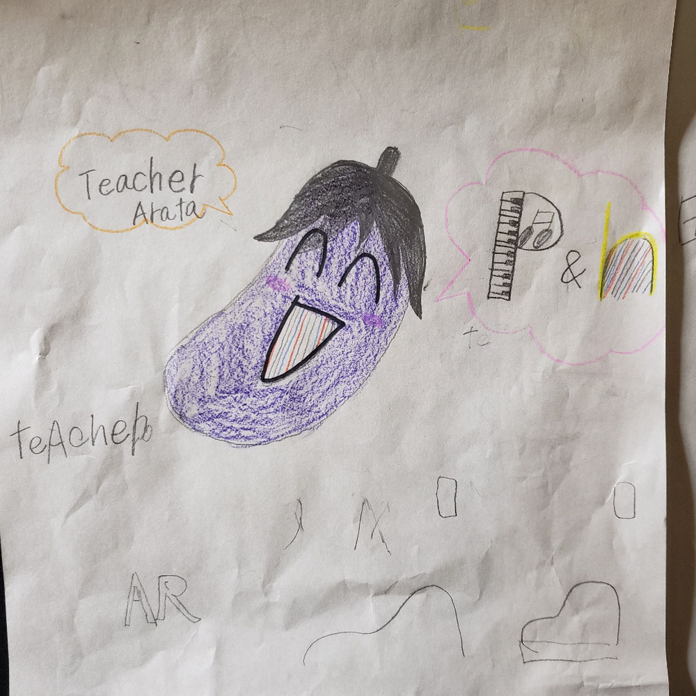 生徒が書いてくれた教室ロゴ①