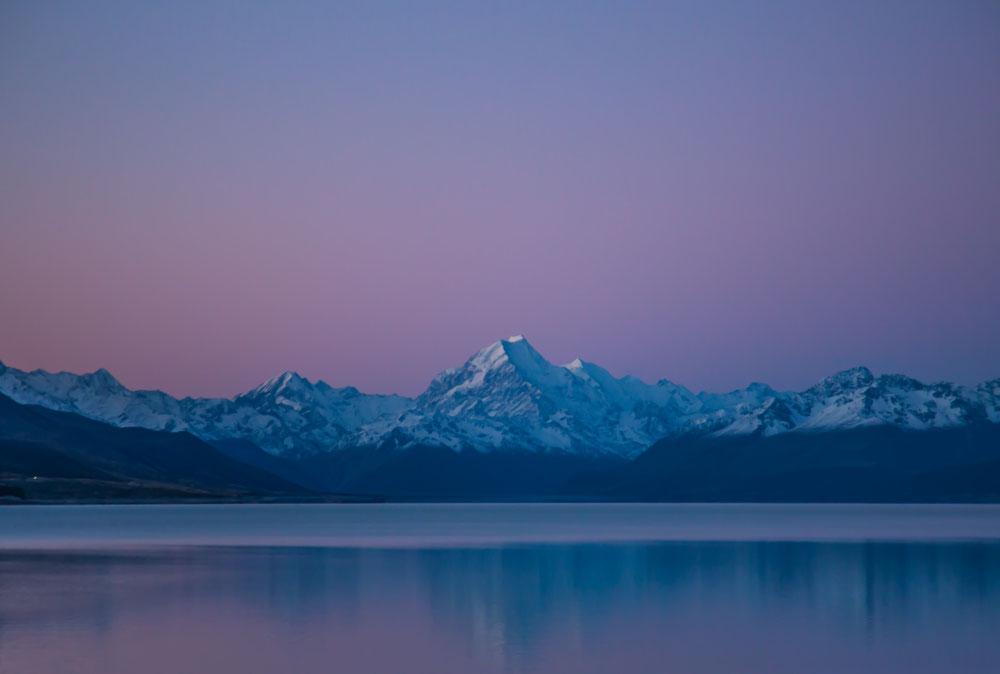 """... und dem Mount Cook """"Gute Nacht"""" gesagt."""
